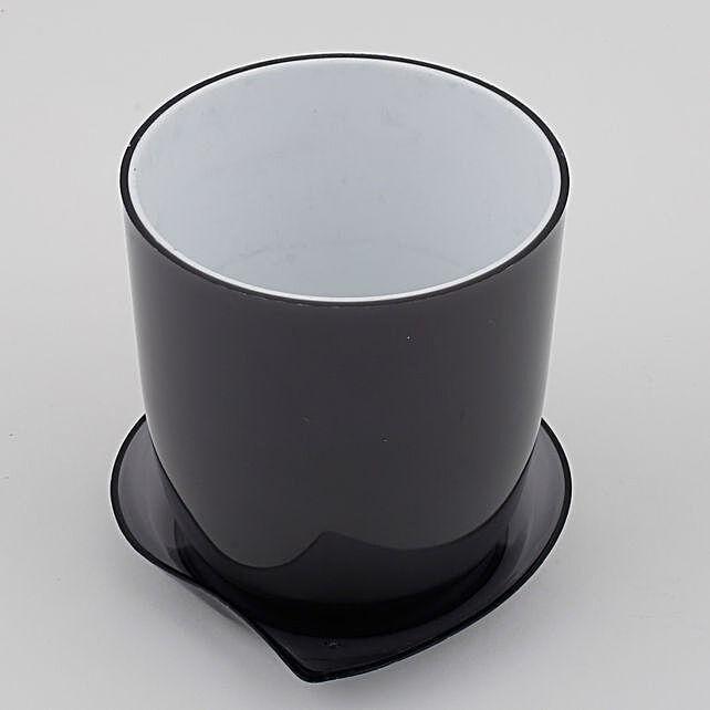 Melamine Cup & Saucer Vase Black