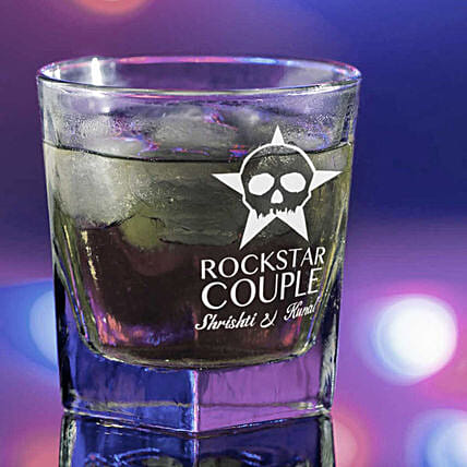 Whiskey Glass:Send Personalised Glassware For Valentine's Day