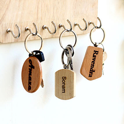 wooden key chain combo