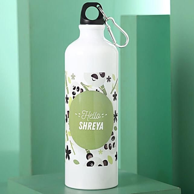 Personalised Hidden Panda Steel Bottle