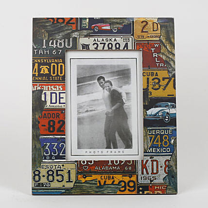 Personalised Multicolored Photo Frame