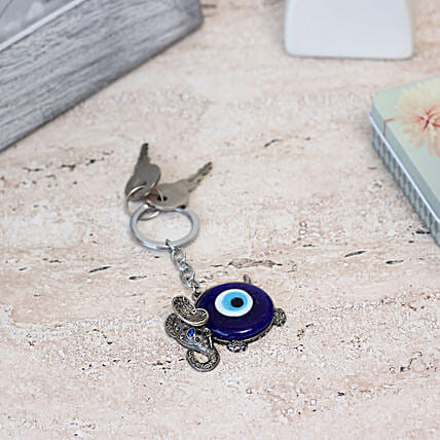 key chain with evil eye
