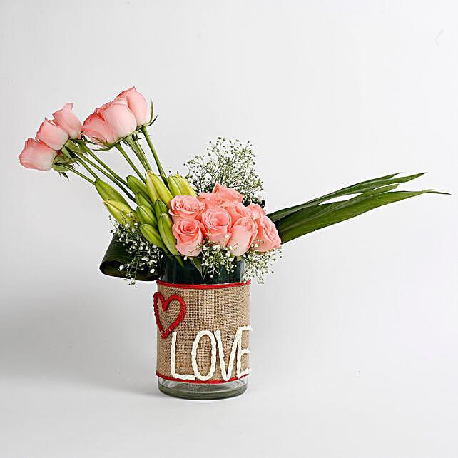 Pink Flowers Arrangement for Her