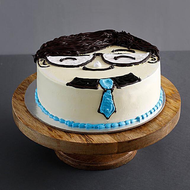 Boss Day Special Butterscotch Cake 1.5 Kg Eggless