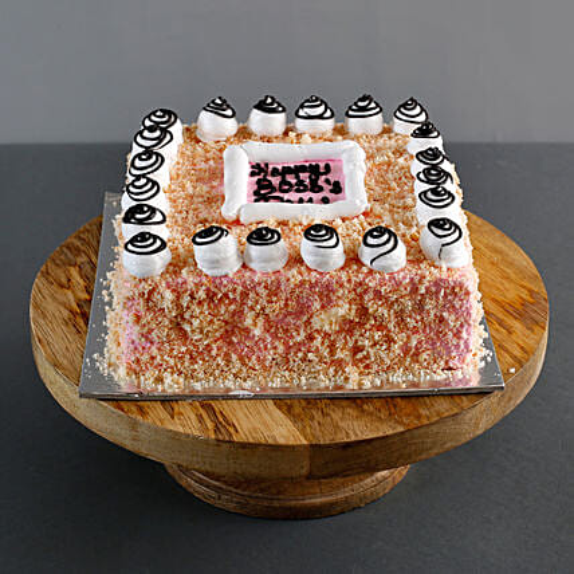 Happy Boss Day Pineapple Cake 1 Kg