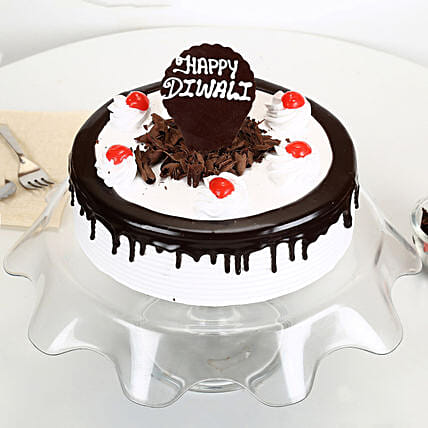 Happy Diwali Black Forest Cake 1.5 Kg