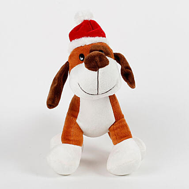 Santa Dog Stuffed Toy