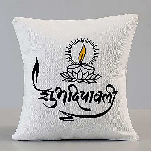 Printed Diwali cushion