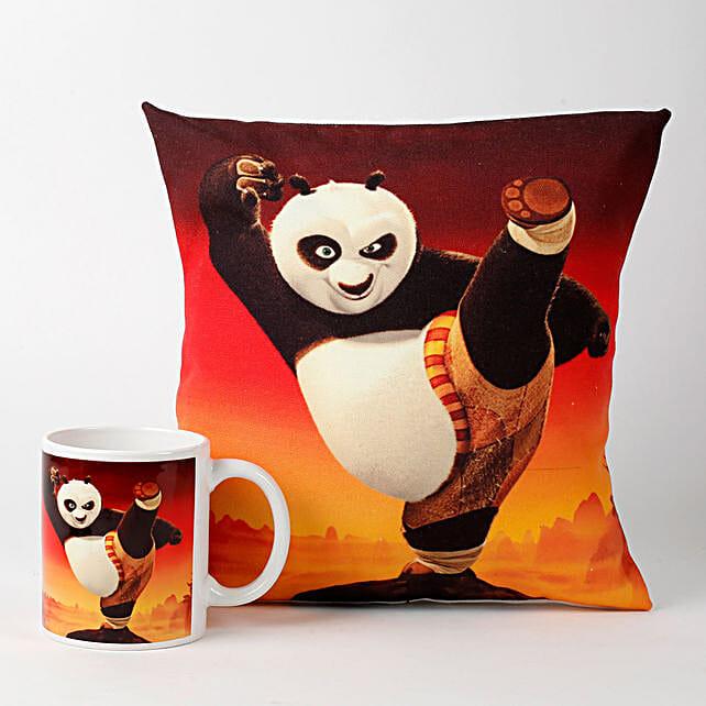Kung Fu Panda Cushion with Mug