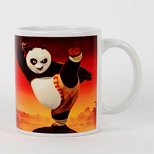Kung Fu Panda Printed White Mug