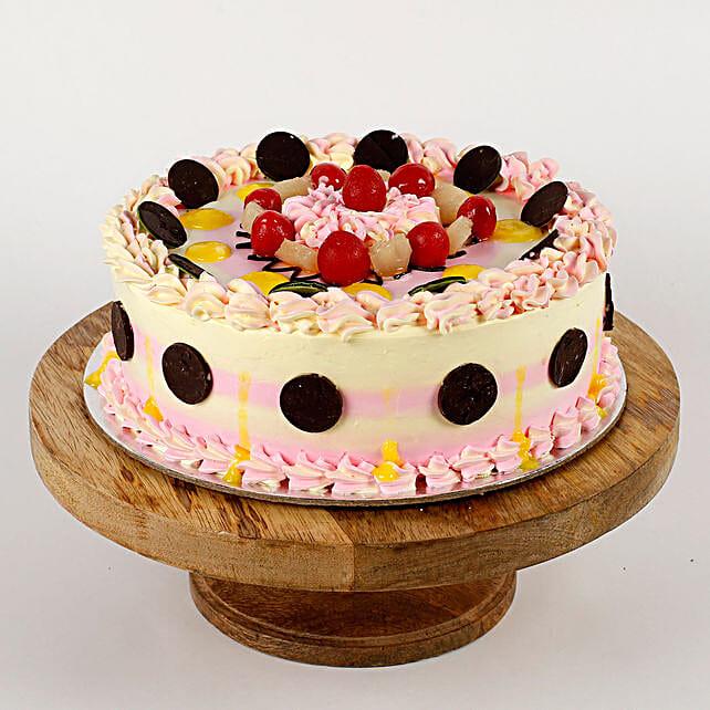 Colourful Pineapple Cream Cake- Half Kg