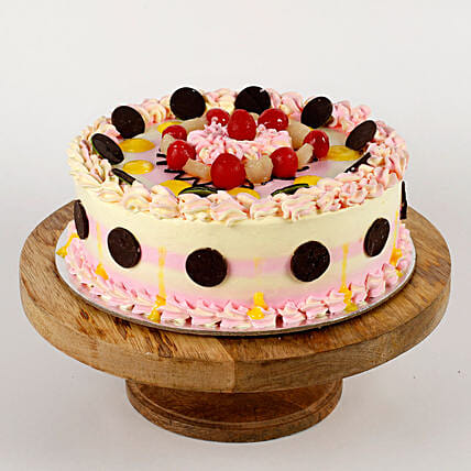 Colourful Vanilla Cream Cake- Half Kg