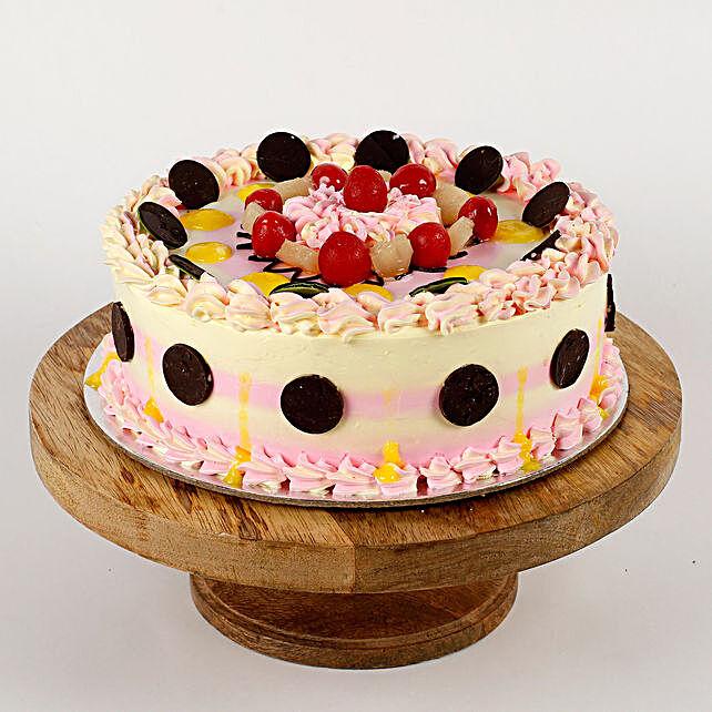 Colourful Vanilla Cream Cake- Half Kg Eggless