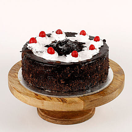 Cream Drop & Cherry Black Forest Cake- Half Kg Eggless