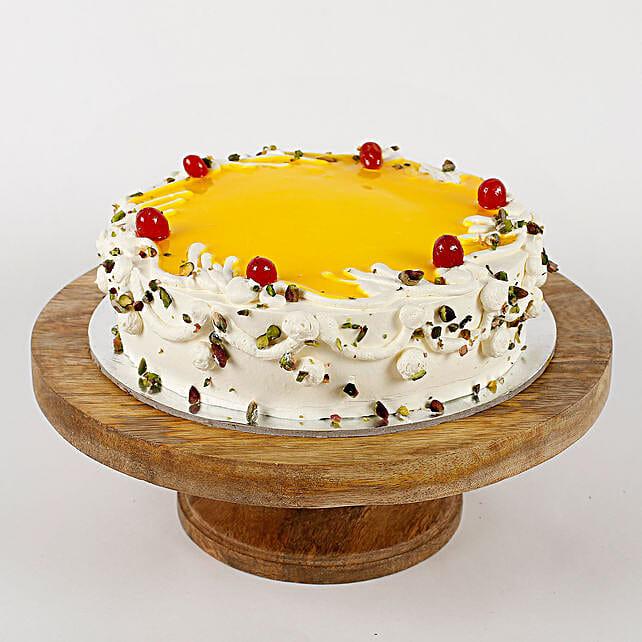 Cream Pista Strawberry Cake- Halg Kg Eggless