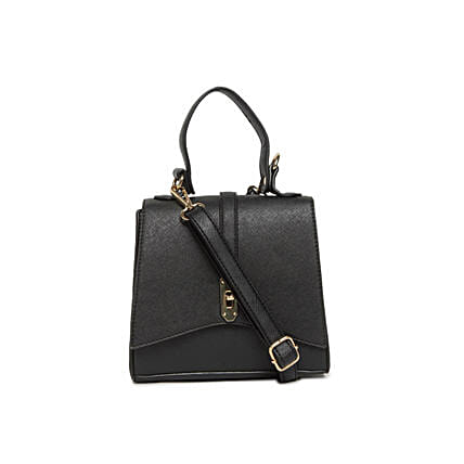Alvaro Castagnino Black Sling Bag for Women