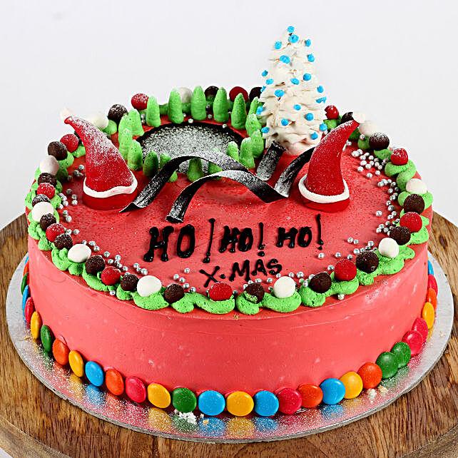 Decorated Xmas Chocolate Cake- 1 Kg Eggless