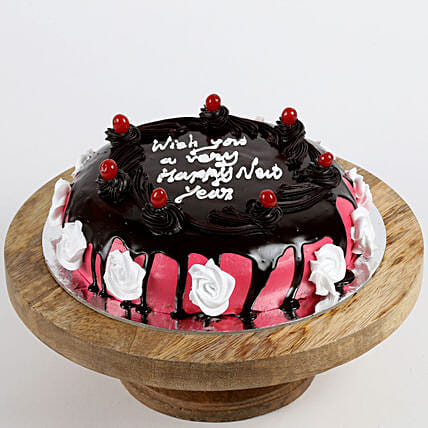 New Year Cherry Butterscotch Cake- 2 Kg Eggless