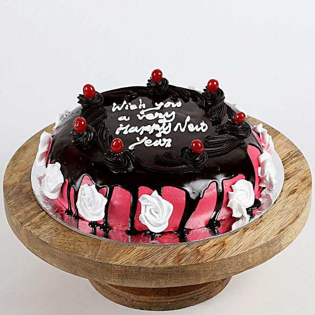 New Year Cherry Chocolate Cake- Half Kg Eggless