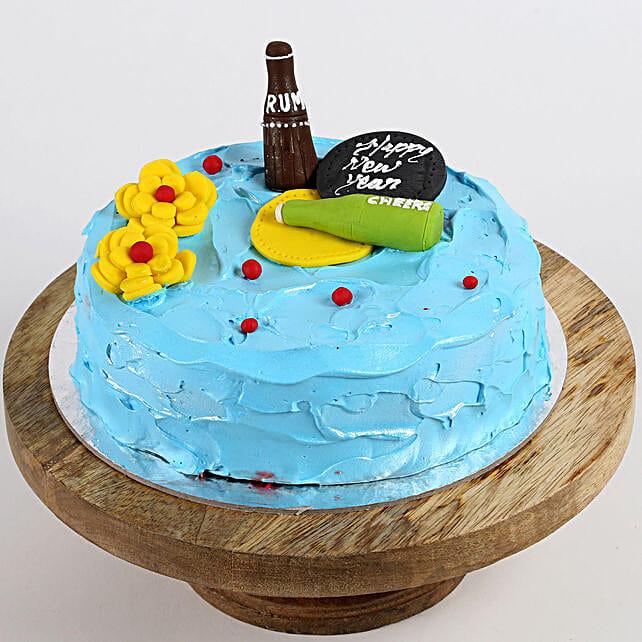 New Year Party Vanilla Cake- 2 Kg
