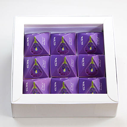Purple Herbal Tea Gift Box For Weight Loss