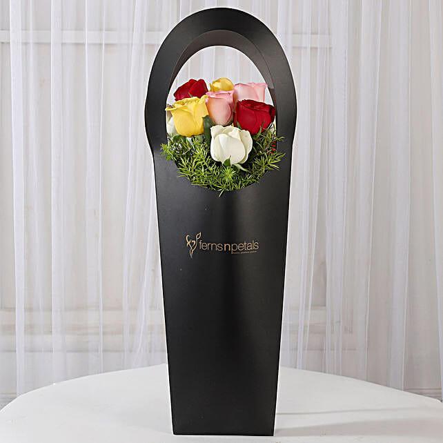 lovely roses set for girlfriend