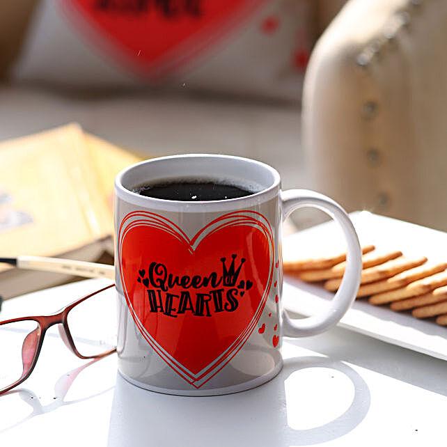 Queen Hearts Printed Mug