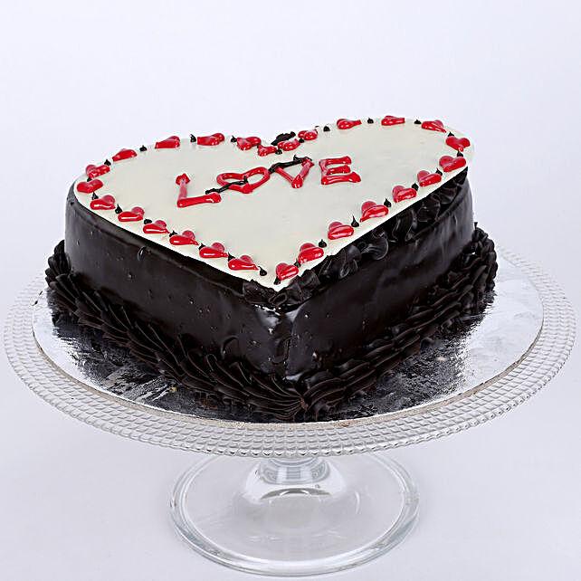 Chocolate Truffle Love Cake 1.5 Kg Eggless