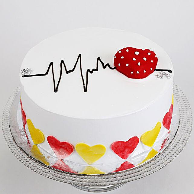 Heart Beat Vanilla Cake 1.5 Kg