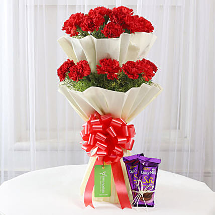 beautiful bouquet with sweet treat