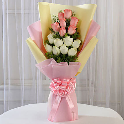 Pink and White Roses Online