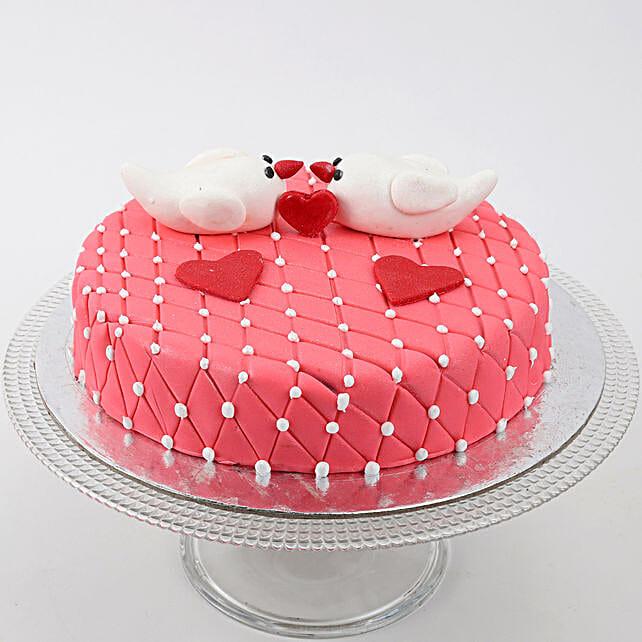 Kissing Birds Vanilla Cake 2 Kg Eggless