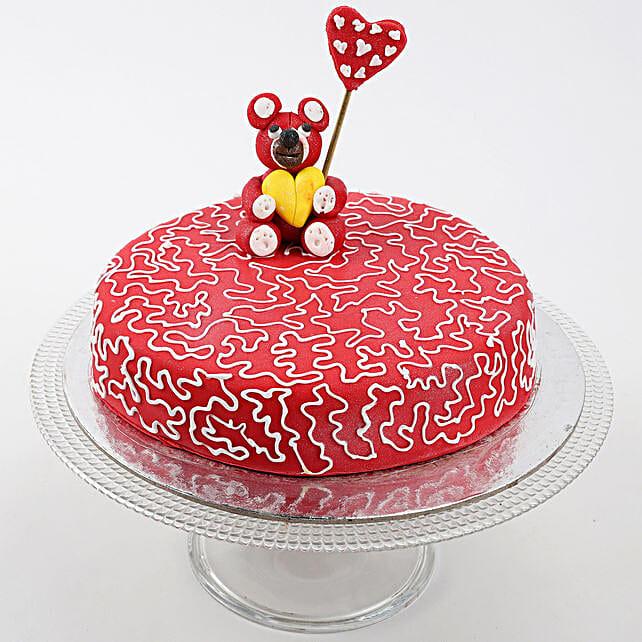 Teddy Hearts Vanilla Cake 1.5 Kg