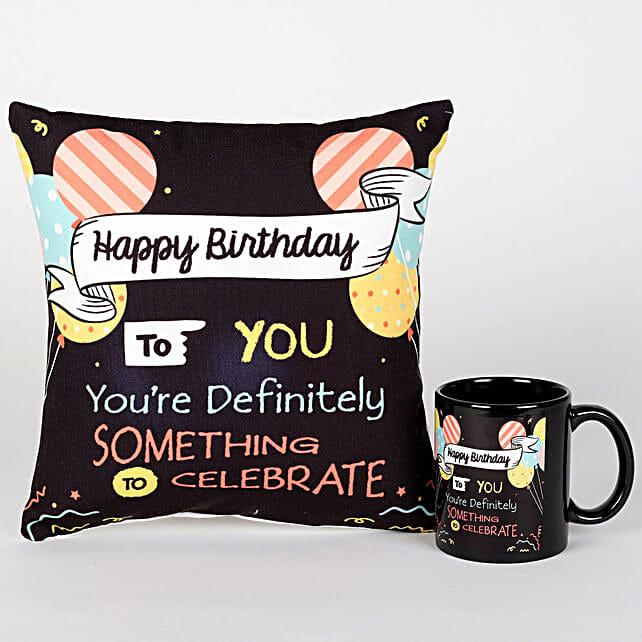 Happy Birthday Special Cushion & Mug Combo
