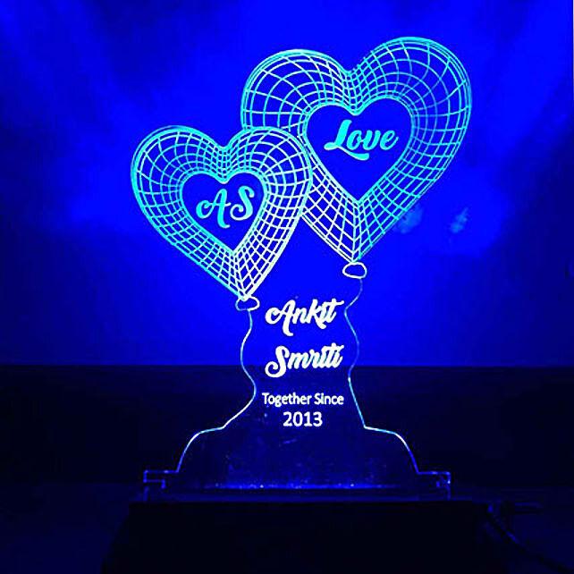 Blue Heart Shaped Lamp