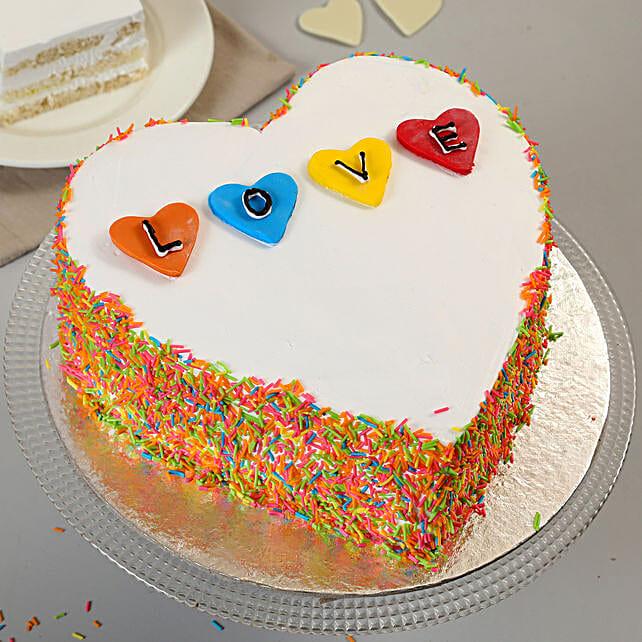 Colourful Love Cake 1kg Black Forest