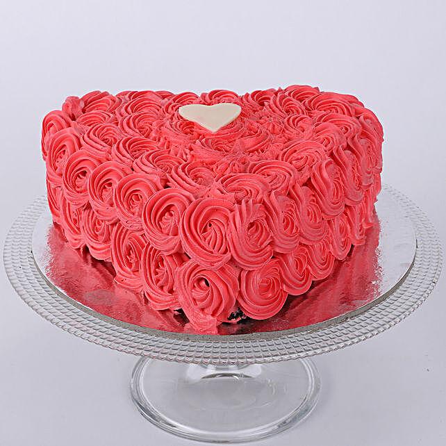 Valentine Heart Shaped Cake 1kg Pineapple