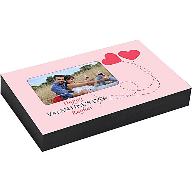 Personalised Pink Box of rectangular Chocolates 18 Pcs