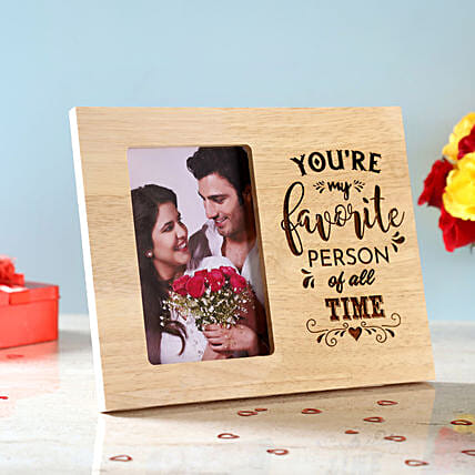 Favourite Person Engraved Wooden Frame