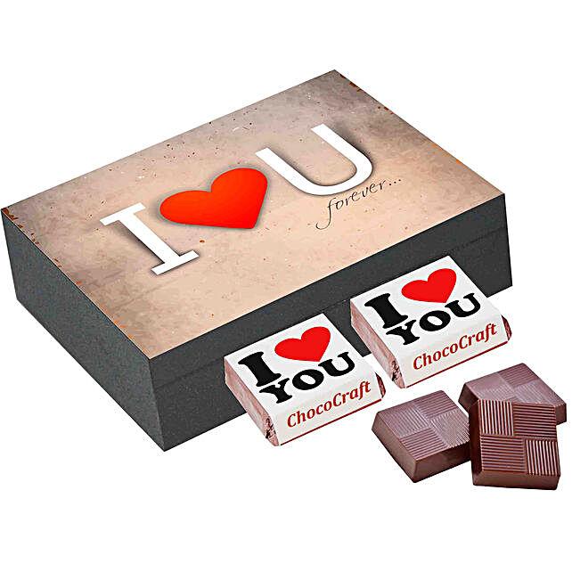 I Love You Printed Chocolate Box