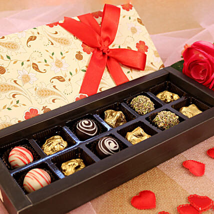 Assorted Chocolates Floral Love Box