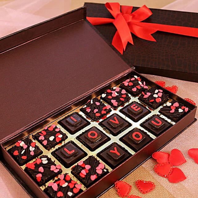 Box Of Love You Chocolates & Brownies