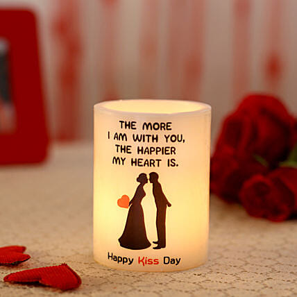 Glowing Kiss Day T Light Hollow Candle