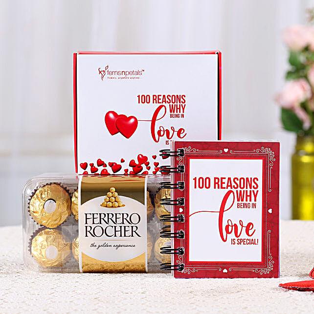 100 Reasons Love Book & Ferrero Rocher Combo