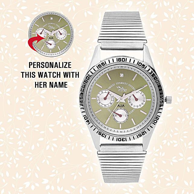 Personalised Trendy Steel Silver Watch