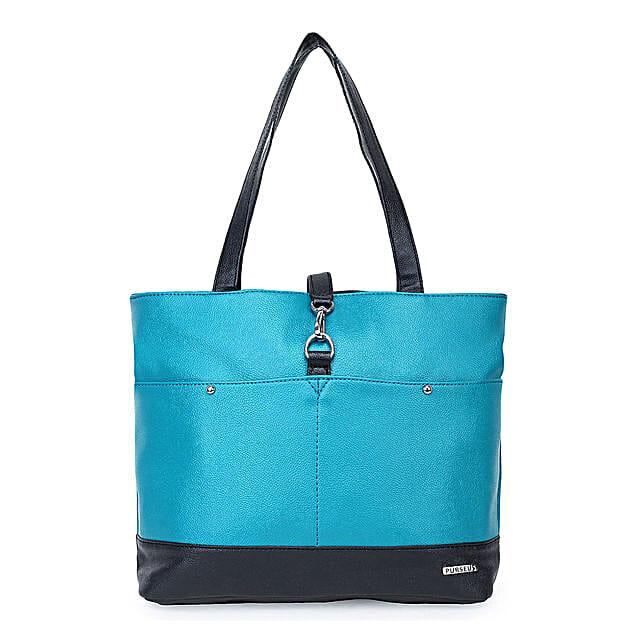 Purseus Perfecto Tote Bag- Turquoise