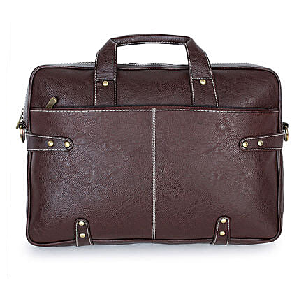 Purseus Rusky Laptop Messenger Bag- Brown