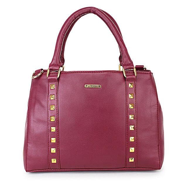Purseus Ziggmatic Hand Bag- Cherry