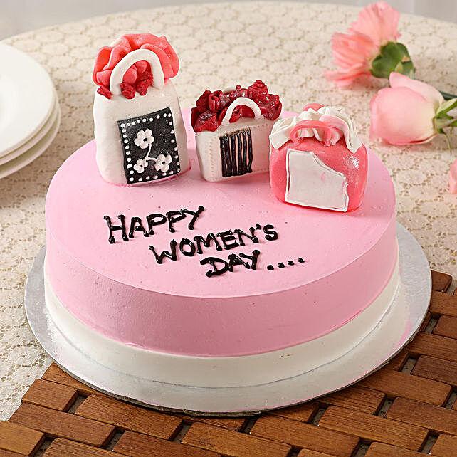 Women's Day Designer Chocolate Cake- 1.5 Kg Eggless