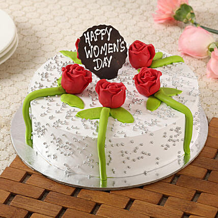 Women's Day Floral Pineapple Cake- 1 Kg Eggless